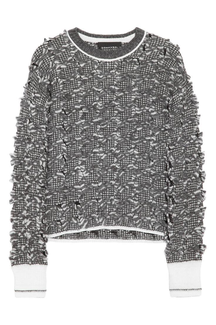 Alexander Wang Bouclé alpaca-blend sweater NET-A-PORTER.COM