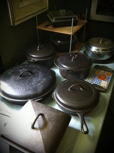 Vintage Griswold and Wagner cast iron cookware