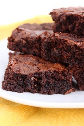 KAHLUA BROWNIES...just added kahlua instead of the water on the recipe and it tasted amazing...flew off the plate
