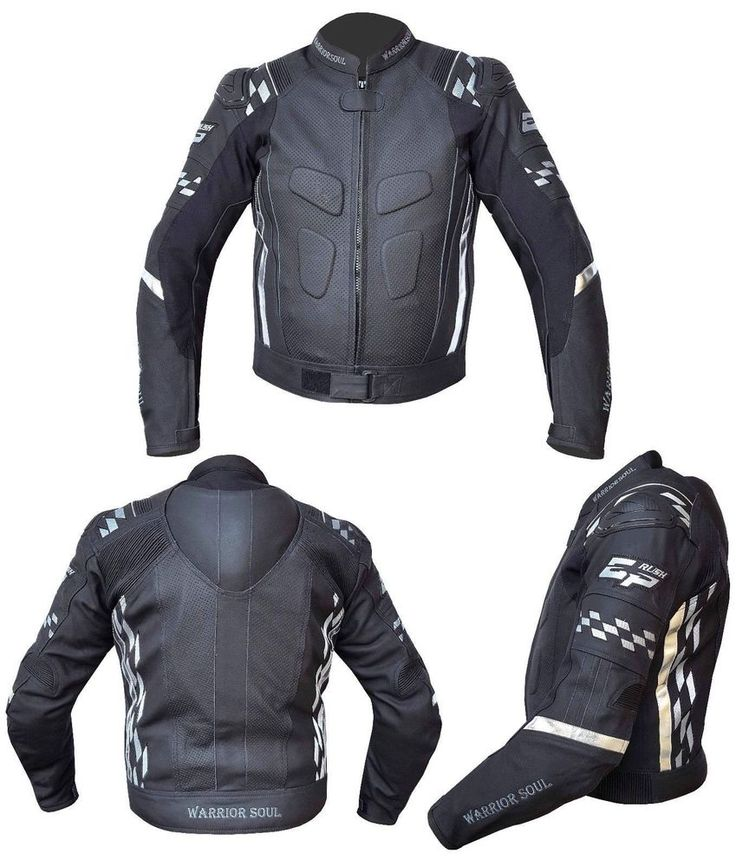 RUSH GP MOTORBIKE LEATHER CE ARMOUR PROFESSIONAL BIKER JACKET