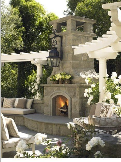 outdoor fireplace design ideas. So How Many Outdoor Fireplaces Can I Have In My Future Backyard  This Is So Fabulous And Dreamy Down To The Wrought Iron Light Fixture Over Fireplace 130 Best Fireplace Design Ideas Outdoor Images On Pinterest Decks