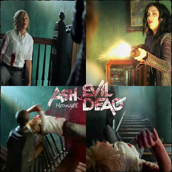 Kelly Vs Ruby Ash Vs Evil Dead Season 3 Episode 6 Tales From The Rift Lucy Lawless Dana Delorenzo Movies Evil Evil Favorite Tv Shows