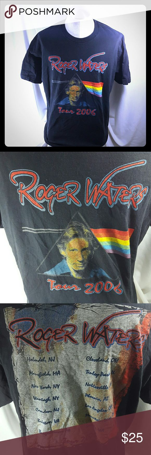 Roger Waters Pink Floyd 2006 Tour Concert T Shirt Flat lay measurements   Pit to pit: 22 Top collar to hem: 30  Fits like a large   100% cotton  Machine washable  Made in Mexico  Gently used May vary in size   EUC  100% Satisfaction with us   Please review all pictures and descriptions to verify what you are buying.  We have a wide variety of products we offer so please feel free to check them all out   Thank your for taking the time out of your day to look at our products. We do appreciate…