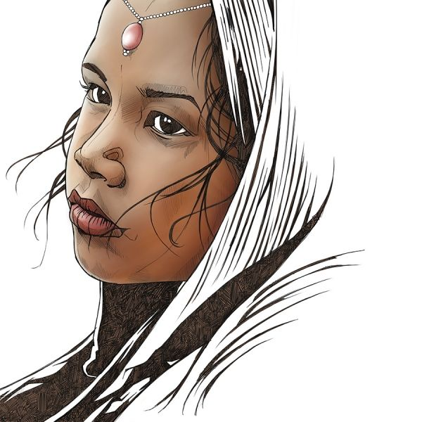 'Kumari'  This is a limited edition fine art print. These are for sale on Morgan.ie. cheers. #art #illustration #drawing #prints