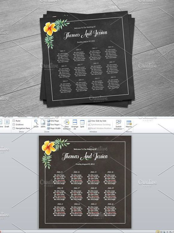 Wedding Seating Chart Template. Wedding Card Templates