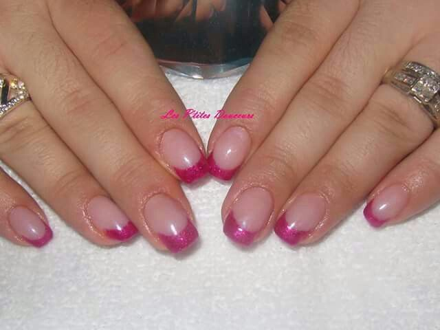 Acrylic nails with CND Shellac