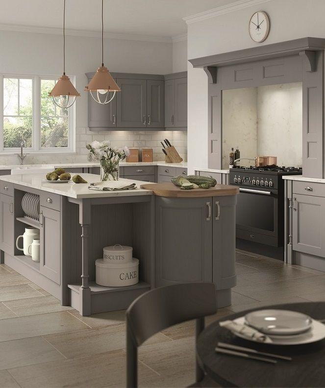 Tkc Introduces On Trend Dust Grey To Cambridge Windsor Kitchen Design Kitchen Replacement Kitchen Doors