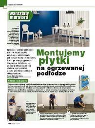 Montujemy płytki na ogrzewanej podłodze -Warsztaty Muratora
