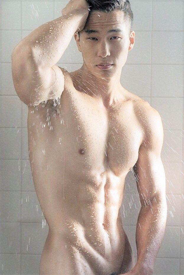 Hot guys taking bath shower
