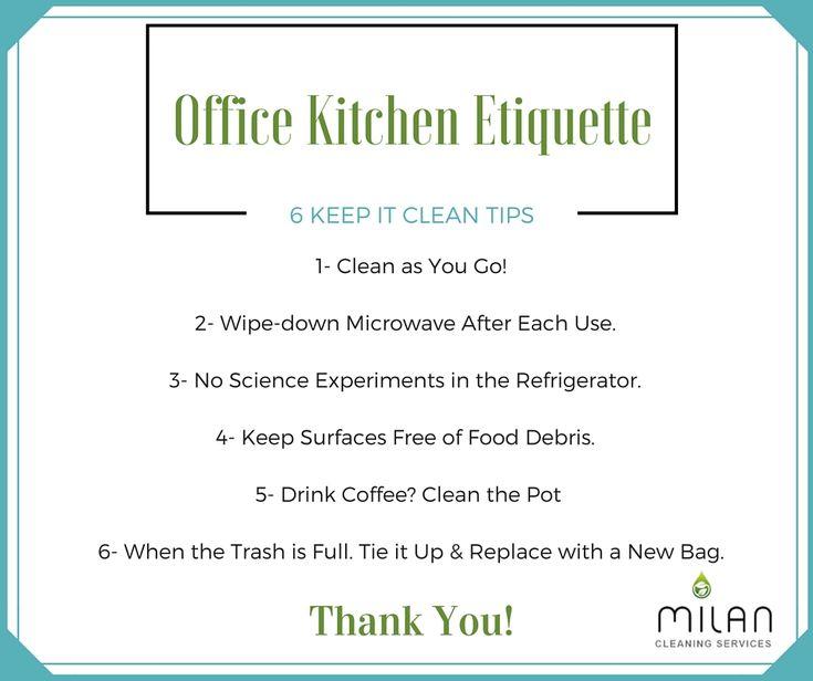 Clean Office Kitchen Signs: Clean Office Kitchen Office Kitchen Etiquette: 6 Keep It