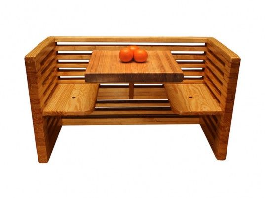 59 best things made of reclaimed bowling alley lanes for Mobilia kitchen table
