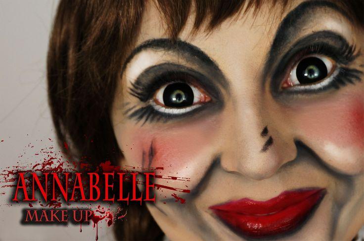 """Annabelle"" Make Up tutorial-  Halloween  mp4"