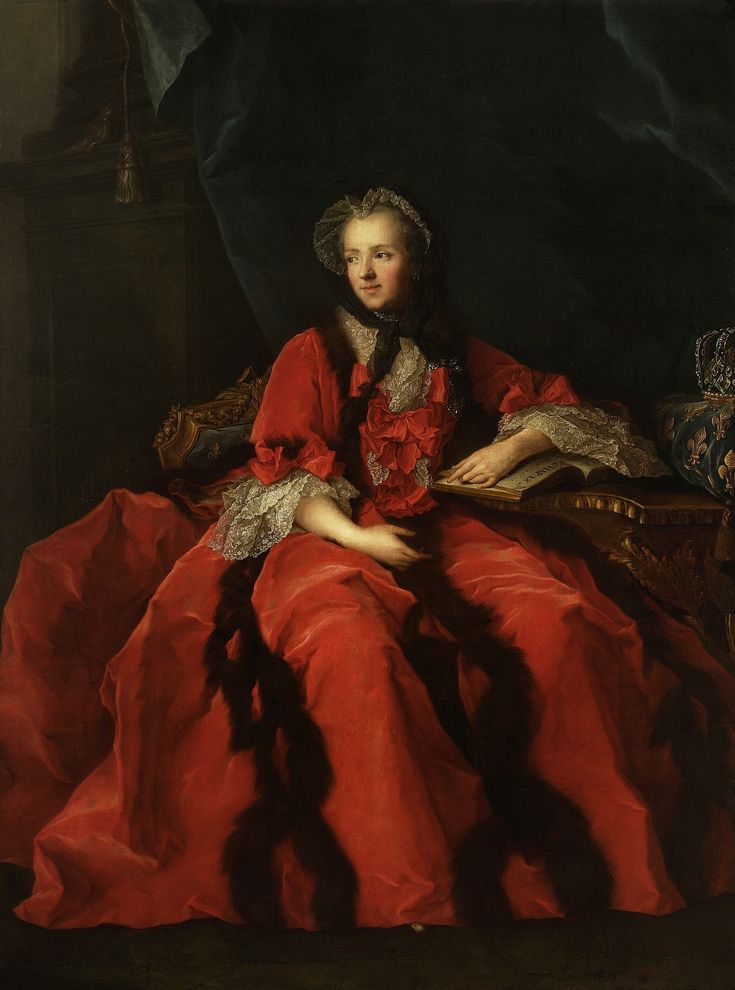 Portrait of Marie Leszczyńska, Queen of France by workshop of Jean-Marc Nattier, ca. 1770 (PD-art/old), Muzeum Narodowe w Warszawie (MNW)