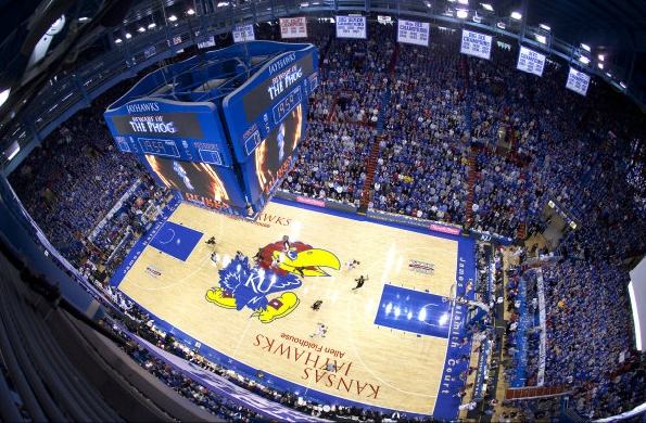 There is no place in the world I would rather watch a basketball game. Watching KU basketball at Allen Fieldhouse still gives me goosebumps!