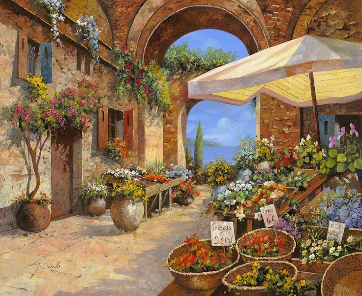 Il Mercato Del Lago Painting - Il Mercato Del Lago Fine Art Print