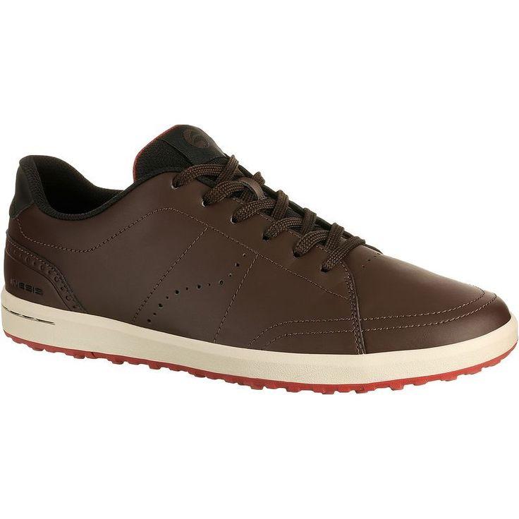Golf_Schoenen Golf - Golfschoenen spikeless 100 heren bruin INESIS - Golf