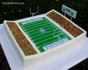 football Stadium cake (cake videos ideas)