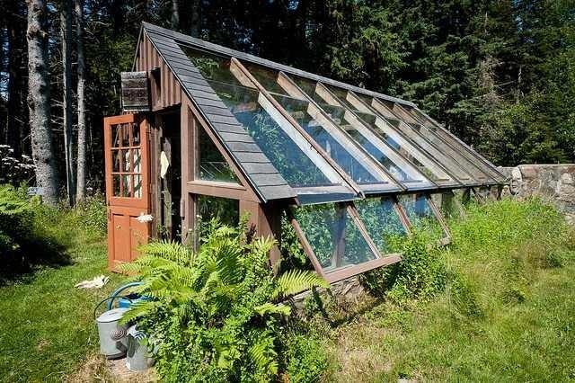 Scott & Helen Nearing - greenhouse, Maine