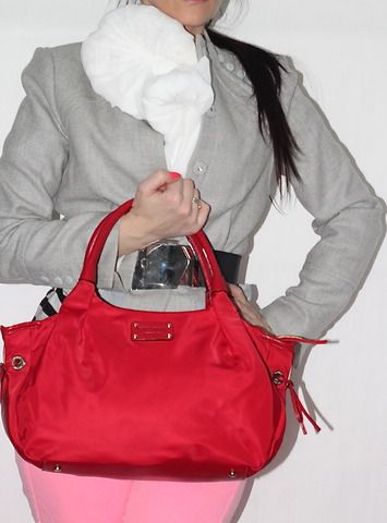 Kate Spade Red Nylon Bag (www.Lenchylux.com)