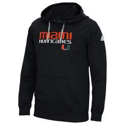 adidas Black Miami Hurricanes Sideline Shock Energy climawarm Hoodie