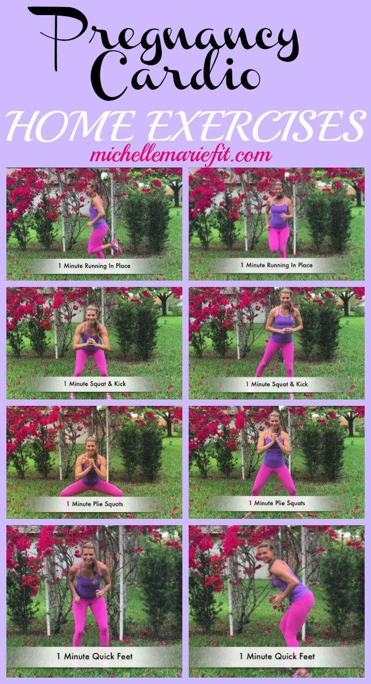 15 minute Pregnancy Cardio Workout.  No gym required.