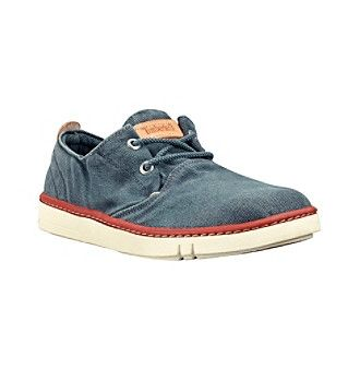 """This simple Timberland Earthkeepers """"Hookset Oxford"""" shoe is crafted from organic cotton canvas paired with a natural latex footbed and outsole. This comfy, casual shoe's classic style and faded colors make it perfect for warm-weather wear. $75.00 by Bon-Ton"""