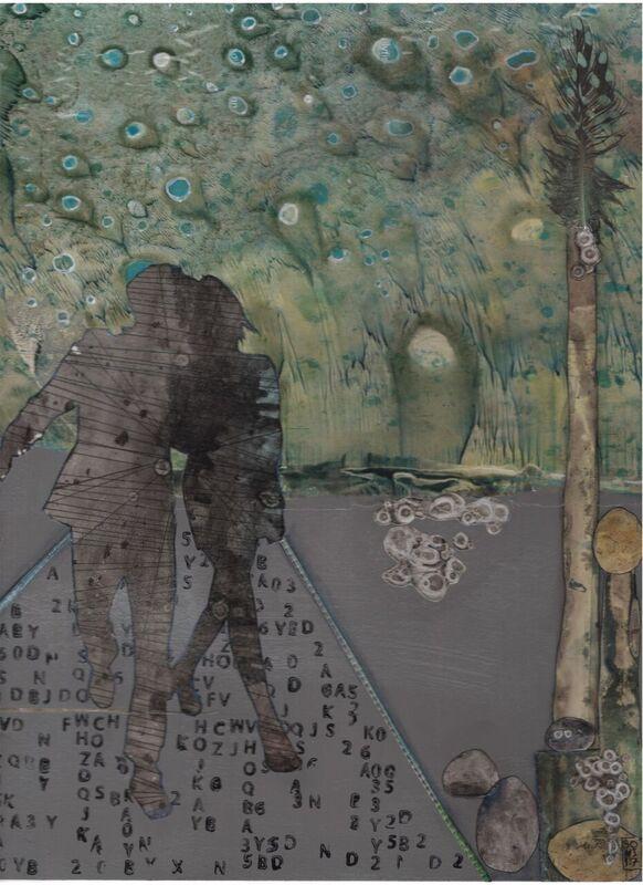 """Sofia Windjusveen. Mixed media (""""citra-paper"""", ink, acrylic)."""