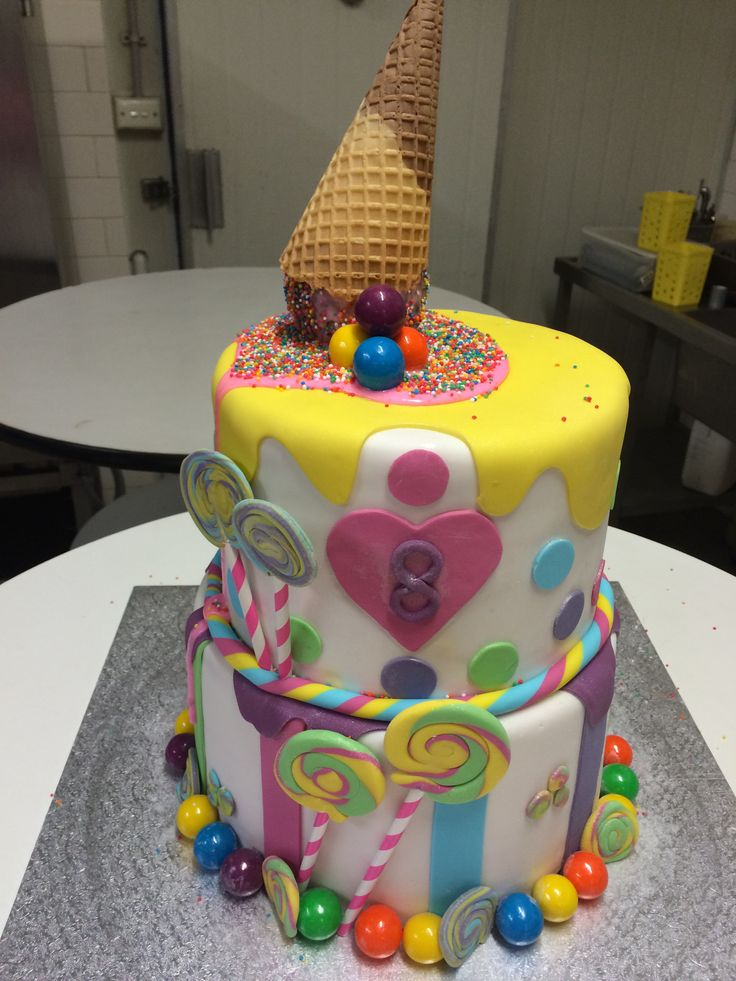 Beautiful 8th Birthday Rainbow Cake for a very spoilt little girl!!!