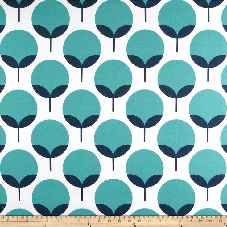 curtains? (better price) Premier Prints Indoor/Outdoor Caroline Oxford/Ocean from @fabricdotcom