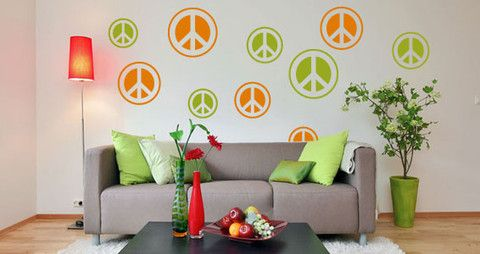 Peace and Love stickers for your home or office.  Visit this link for more designs: https://limelight-vinyl.myshopify.com/