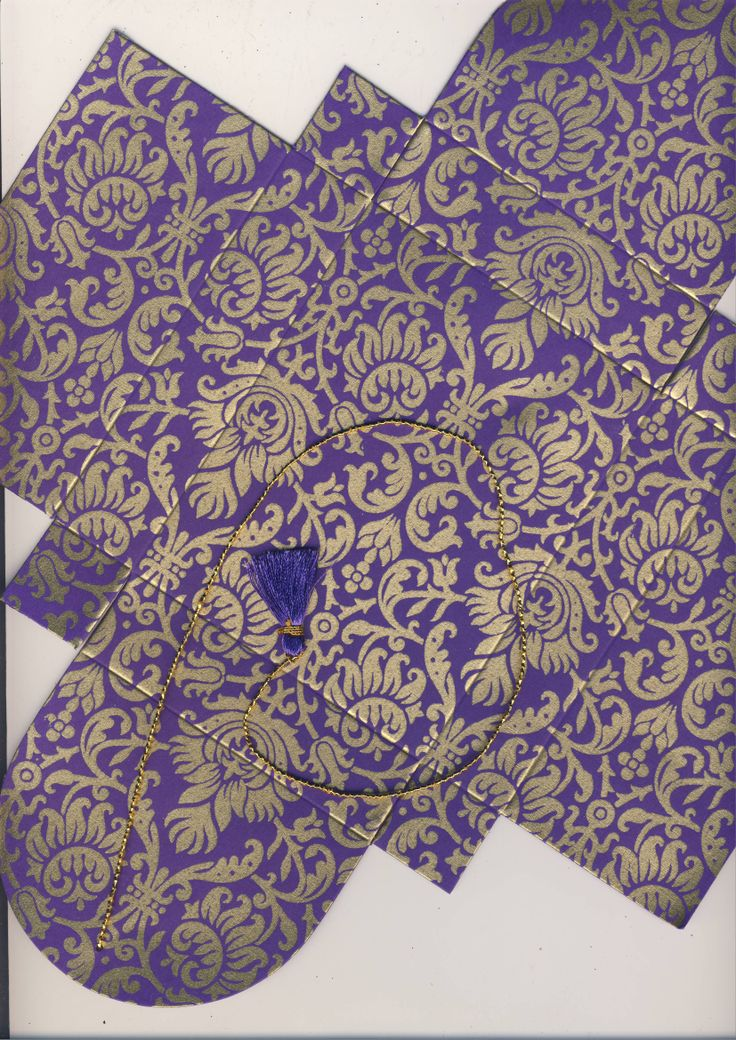 Purple-Gold # 94 Collapsible Box  (66)