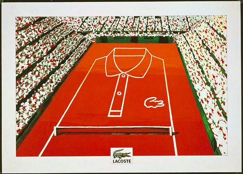 Vintage Lacoste poster. From the Lacoste S.A. Archives. © All Rights Reserved