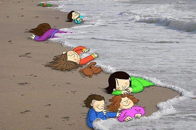 18 artistes du monde entier rendent hommage au petit garçon syrien noyé: 18 artistes du monde entier rendent hommage au petit garçon syrien noyé