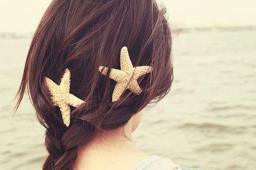 fun hair accessory: Sea Stars, Beaches Hair, Wedding Hair, Mermaids Hair, Summer Hair, Hair Accessories, Starfish Hair Clip, Hairclip, Beaches Wedding