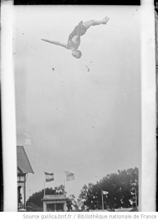 Anvers, Louis Balbach (américain) [plongeon de haut vol, Jeux olympiques] : [photographie de presse] / [Agence Rol] - 1