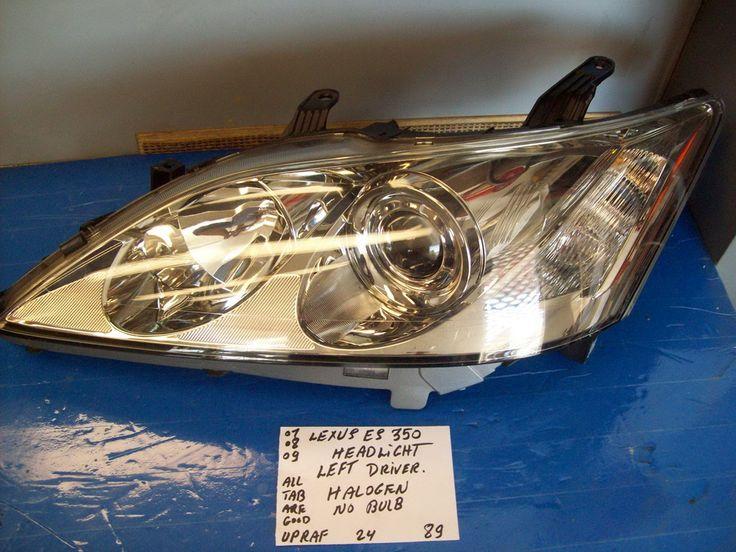 2007 2009 lexus es350 headlight left driver side halogen