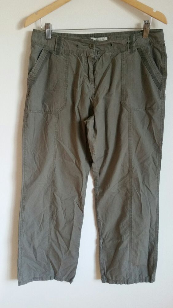 Ladies Cargo Trousers 100% Cotton Bnwt
