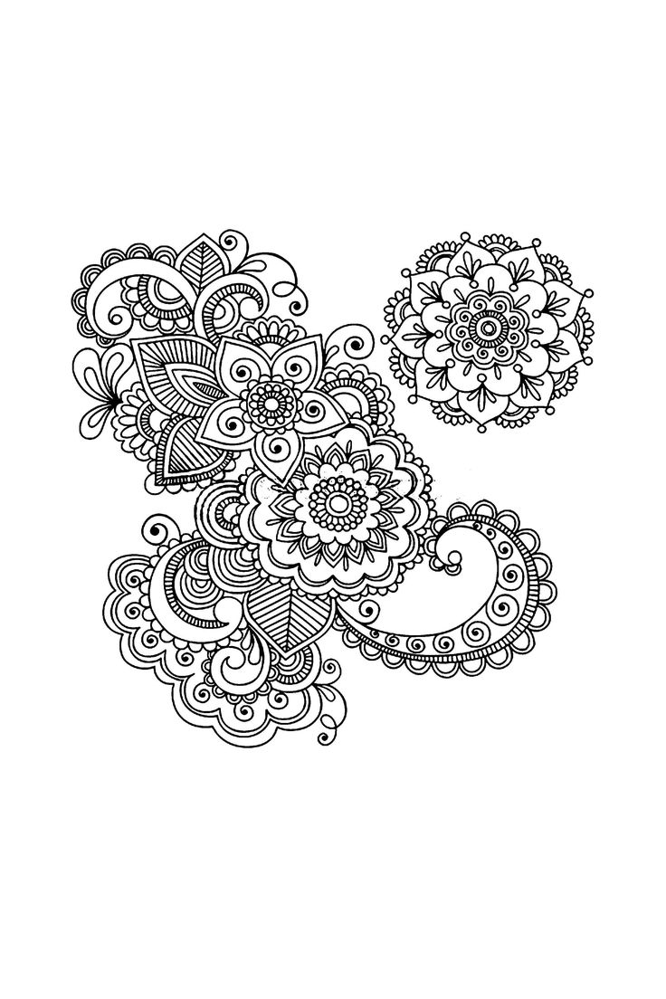 Coloring pages henna - Lotus Henna Drawing Displaying Images For Henna Flower Drawing