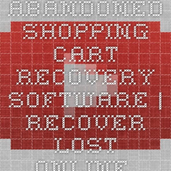 Abandoned Shopping Cart Recovery Software | Recover Lost Online Sales - YouTube