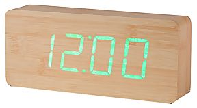 Réveil Slab Click Clock bois beige - Gingko
