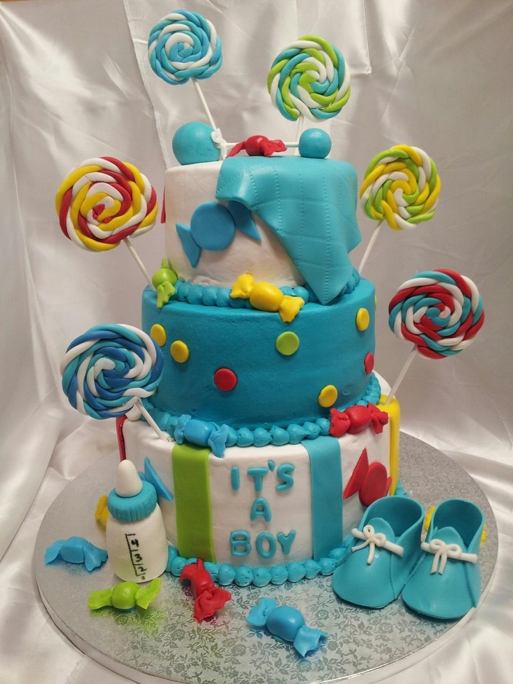 Baby Shower   Candy Theme Babyshower Cake