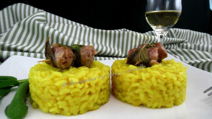 Risotto con spiedini di salsiccia - Annamaria tra forno e fornelli