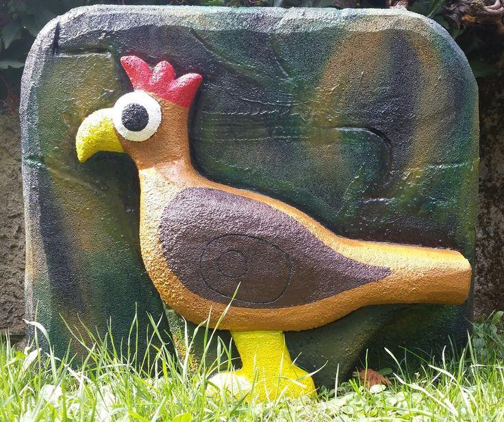 Buntes Huhn mit Backstop, 3D-Ziel für Bogenschützen aus Ethafoam 400, Bogenschießen