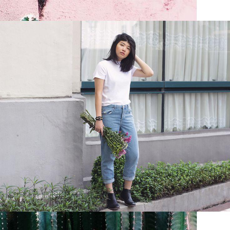 Melisa A - Monki Turtleneck Top, Topshop Straight Cut Jeans, Marc & Stuart Chelsea Boots, Balenciaga Bracelet With Hardware - ALWAYS