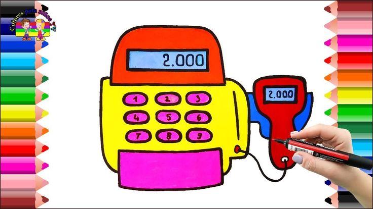 Registro Mart para páginas de Baby Coloring y caja registradora de jugue...