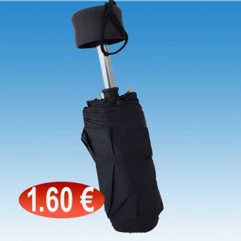 Ομπρέλες σπαστές μαύρες 1,60 €-Ευρω