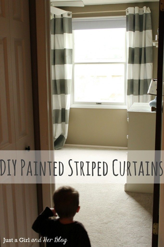 {DIY Painted Striped Curtains}