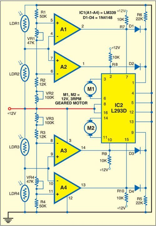 Tracking Solar Panel Circuit Diagram - Wiring Diagram Article