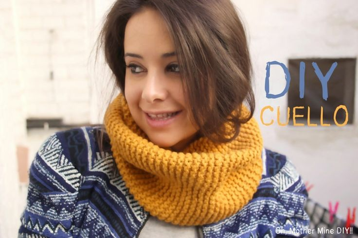 DIY Cómo hacer un cuello de lana o bufanda cerrada a punto bobo