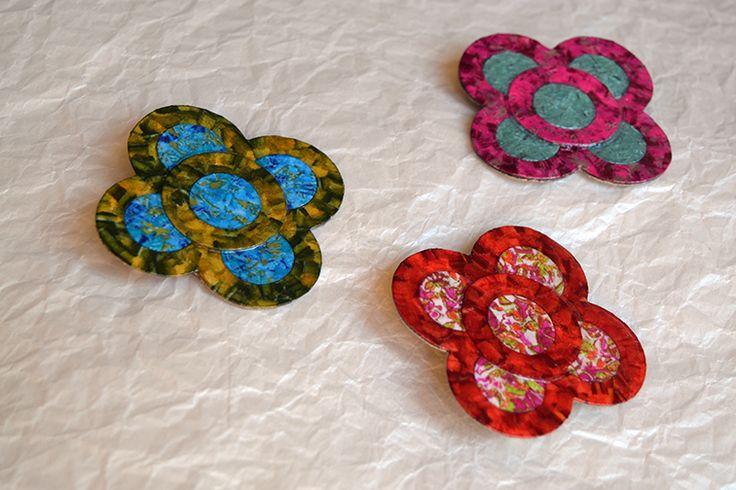 Broche flor modernista (panot). Diseño ezclusivo Art & Patch Barcelona